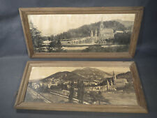 Paia di cornici antichi in legno vintage illustrazioni Pesanti old foto frames