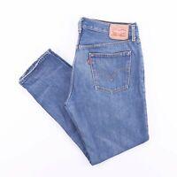 Vintage LEVI'S 501 Regular Straight Fit Men's Blue Distressed Jeans W34 L27