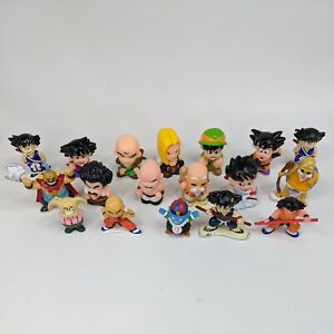 Lot of 18 Dragon Ball Z Vintage 1995 rare Figures Minifigures Toppers #20