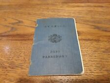 1936 Sweden passport issued in Jonkoping travel Germany France Denmark Estonia
