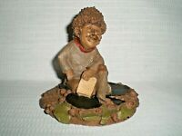 Thomas Clark Gnome Figurine Hand Cast Cairn Studio: King of Clubs #85; 1984
