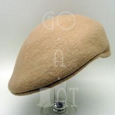 FASHION Wool Felt Men Ivy Hat Newsboy Cabbie Ascot Irish Cap NEW | 59cm | Beige