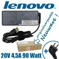 Lenovo Netzteil 20V 4,5A 90 Watt 45N0499 [eckiger Stecker] für ThinkPad IdeaPad