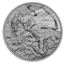 CANIS ZI:SIN  THE TWELVE GUARDIANS 2018 1 Clay 1 oz Pure Silver Bullion Round