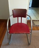 Vintage Chromcraft Sweeping Arm Lounge Chair - Chrome - Mid Century, Art Moderne