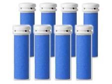 8 Extra Coarse Pedicure Refill Rollers Comp/w Emjoi Micro-Pedi Callus Remover