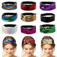 stirnbänder elastische turbane pailletten - haarband waschen kopfbedeckung