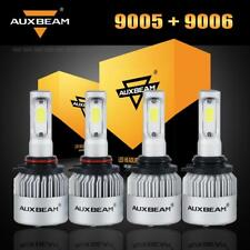 Auxbeam 9005+9006 LED Headlight Bulbs 6500K for Honda Accord 90-12 Civic 04-2015