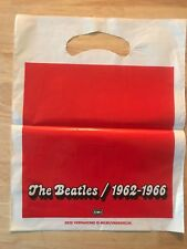 RARE FRENCH BAG FOR THE BEATLES FOR DOUBLE BLUE AND RED CD COMING OUT!!