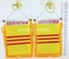 South Vietnam Flag Mini Banner Car rear view mirror glass window