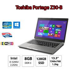 Toshiba Portege Z30B Portable Ultrabook Laptop i5 8GB DDR3 128GB SSD 13.3 1.2kg