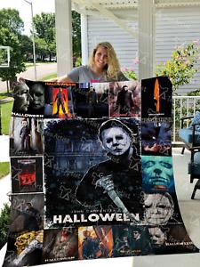 Halloween – Michael Myers Quilt Blanket,  Fleece Blanket Printer In US