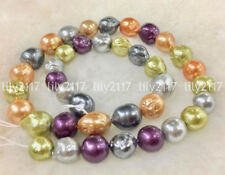 8PE018765strds 7x10mm Multi Color Baroque FW pearls 15