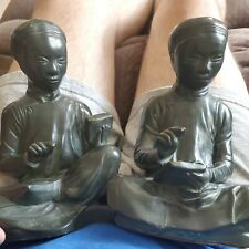 """One Pair of Austin Products Inc. 1961 """"Chinese Students"""" Mid Century"""