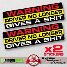 WARNING DRIVER decal sticker vinyl funny bumper jdm car 4X4 JEEP OFFROAD race VW