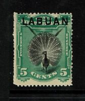 Labuan SG# 92, Mint Hinged, Hinge Remnant, shallow side thin - S1398