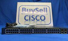 Cisco Catalyst Ws-C2960-48Pst-L 48-Port 10/100 PoE & 2 Ge T/Sfp Switch Grade A