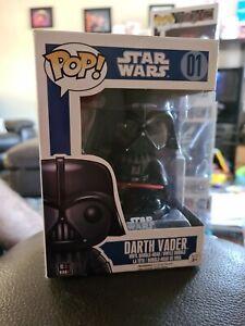 Funko Pop! Star Wars Darth Vader #01 Series 1 Vinyl Bobble-Head (Sun box damage)