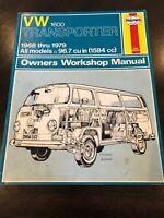 VOLKSWAGEN VW 1600 Transporter Van Service Shop Repair Manual 1968-1979