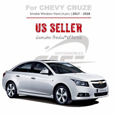 Smoke Window Vent Visor Rain Guard Out Channel 4 Pc for Chevy Cruze 2017-2018