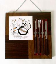 60s barbesteck teck utensils barware cocktail set Kirchheim directsous couvert de bar ANNEES 60