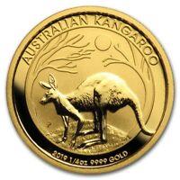 (4) CH/GEM BU 1/4 oz. 2019 $25 Gold Australian Kangaroo Coin 1/4 Ounce .9999