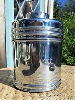 Vintage Silver Chrome Cigar Humidor Art Deco by Rumidor