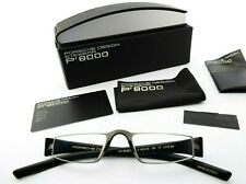 PORSCHE DESIGN Brille P´8801 A 48[]20 150 CE +2.00 dpt Reading Frame Black Gray