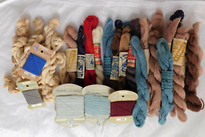 Job lot vintage darning mending wool Chadwick Mammoth St George display only A