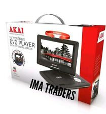 "-AKAI 10"" LCD Portable Car DVD Player Multi Region with SD Card USB Port -A51006"