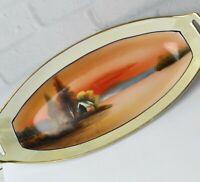 "Noritake Morimura Lusterware Hand Painted Large Oval Oblong Serving Dish 12"""