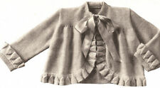 Vintage Knitting PATTERN to make Baby Sweater Sacque Ruffled Coat Jacket 6-12 mo