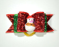 Christmas Dog Hair Accessory -  Pet Dog Hair Bow Tie Christmas patten