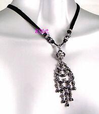 Deco Vintage Chic Barroco Ondulado Candelabro Colgante Collar w/