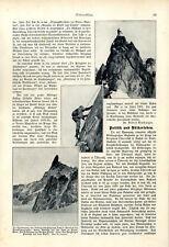 Erstbesteigung des Dent de Géant in der Montblancgruppe Aufnahmen von 1908
