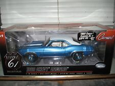 1:18 HIGHWAY 61 1969 CAMARO ZL-1 C.O.P.O. RS 427 LEMANS BLUE & WHITE VINYL TOP