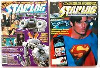 2 issues Starlog Magazine Science Fiction Number #108 July 1986 & #119 June 1987