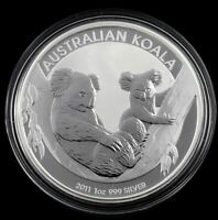 2011 KOALA 1oz SILVER Coin in Capsule