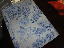 FRENCH COUNTRY BLUE TOILE SWINGS DOG OBLONG TABLECLOTH 58 X 80