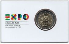 2 Euro 2015 Italia EXPO in Blister FDC