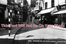KE 186 - Looking Up The High Street, Folkestone, Kent - 6x4 Photo