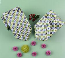 Green Geometric Matrix Standard Business Tie 8cm Classic Regular Wizard Fashion