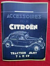 CITROEN  traction avant 7 & 11 ; catalogue accessoires 1938-1939  REPRINT