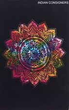 Colorful Hippie Tie-Dye Wall Door Hanging Poster Tapestry Flower Design Classy