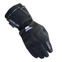 Merlin Titan Outlast Motorcycle Motorbike Textile Waterproof Gloves - Black