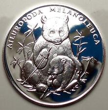 30 YEARS WWF Giant Panda 1993, BU Proof Medal 38mm 20g Silver With COA, Rare B7