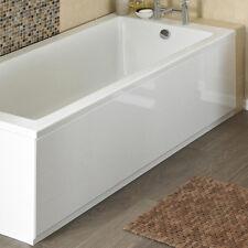 White High Gloss 2 Piece Front Bath Panel & Plinth 1700mm 170cm Adjustable MDF