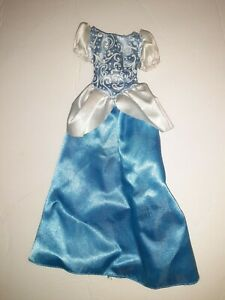 Disney's Cinderella Princess Blue Sparkly Ball Dress Gown For Dolls (Dress Only)