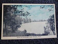 1920's A Scene at Cavanaugh Lake at Chelsea, MI Michigan PC