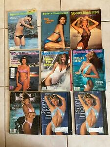 Lot 9 Sports Illustrated Swimsuit Issues.  1973-93. Brinkley, Ireland.